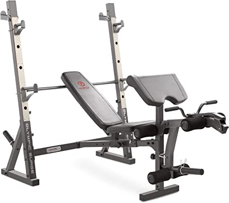 side facing marcy md-857 olympic weight bench