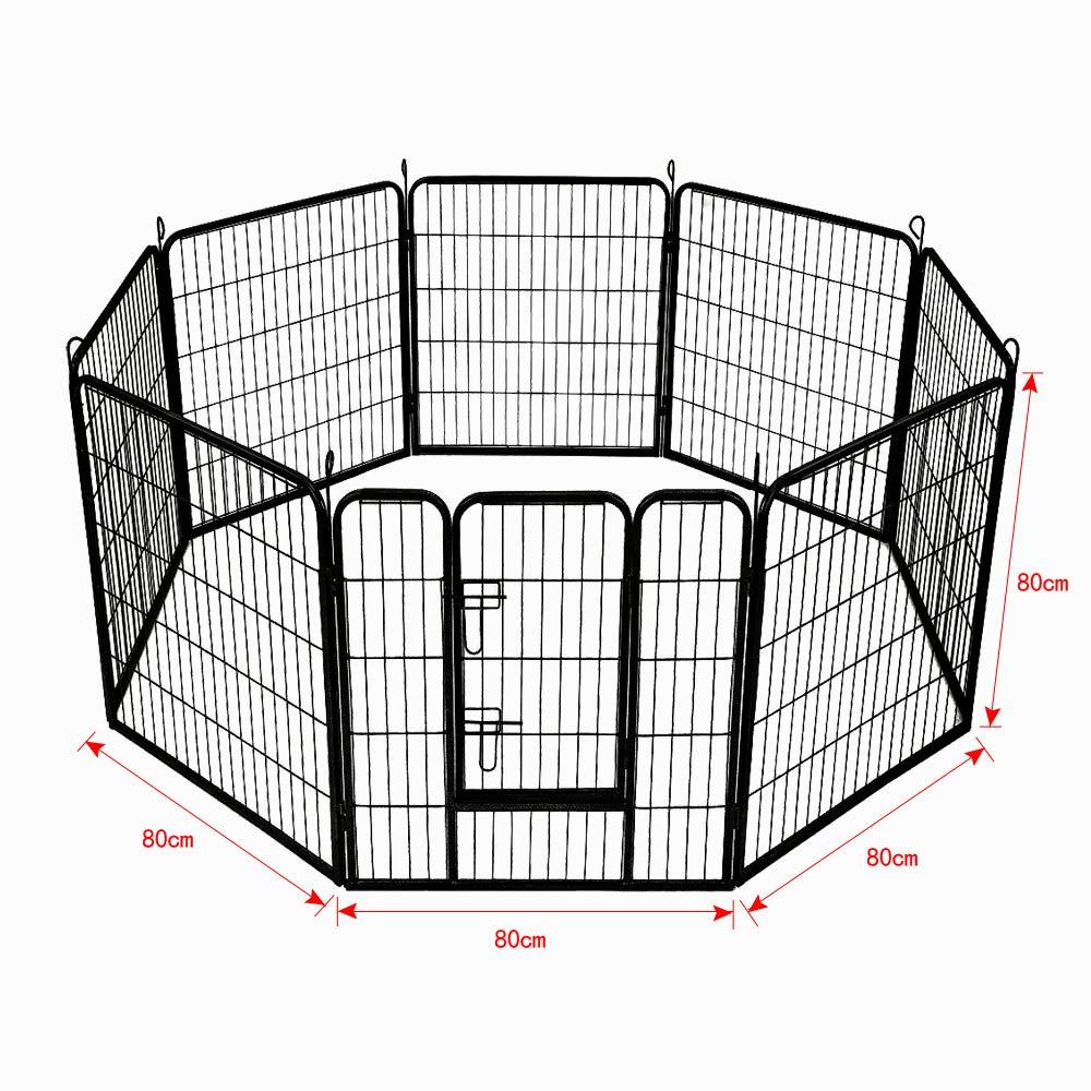 AUFUN Recinzione Recinzione Recinzione per Cani Recinto Recinti da Esterno per Cani Gatti Cuccioli Conigli Animali Nero Ferro Gabbia di 8pz - 80 X 80 cm bce7b5