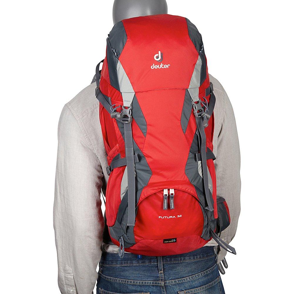 bieten viel 2018 Schuhe letzte Veröffentlichung Deuter Futura Hiking Backpack, 32 litres (Black/Granite)