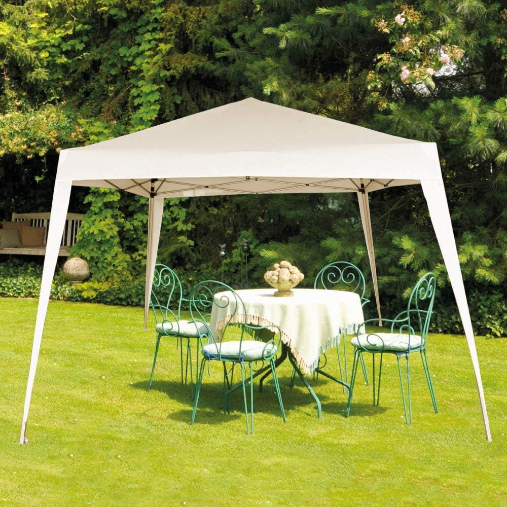 Aktive 62186 - Cenador blanco para jardín poliéster 300 x 300 x 250: Amazon.es: Jardín