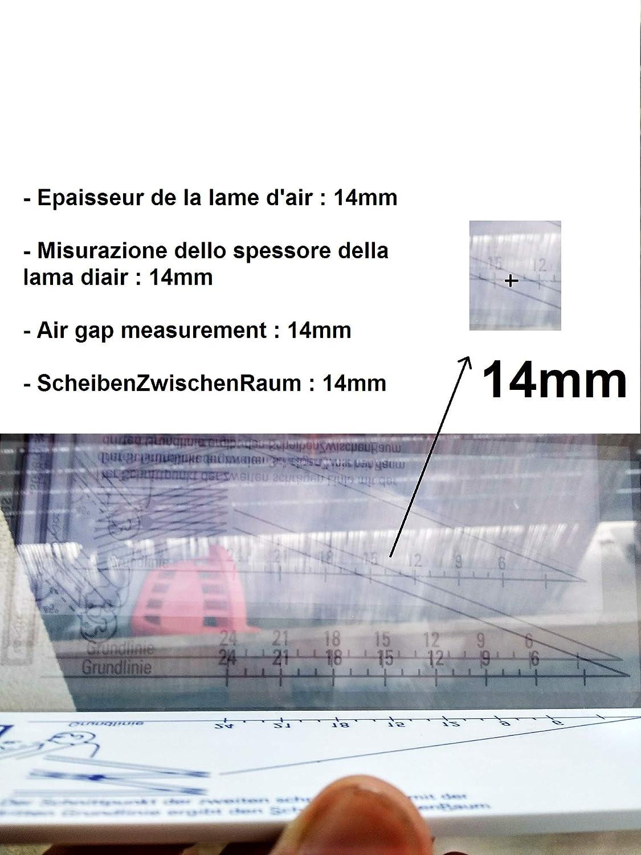 BOHLE Verre Carreaux épaisseur Measuring Gauge