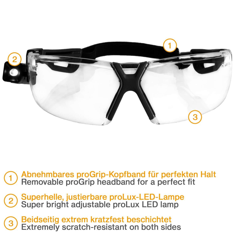 Gafas Protectoras con cord/ón y l/ámpara Color Blanco y Negro Uvex X-Fit Pro