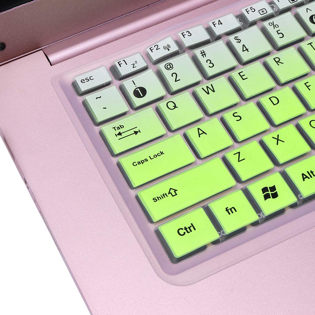 Gradient Pink Setyuty Keyboard Cover Keypad Film Skin Protector Notebook Silicone Protection for Asus K50 Laptop Accessory