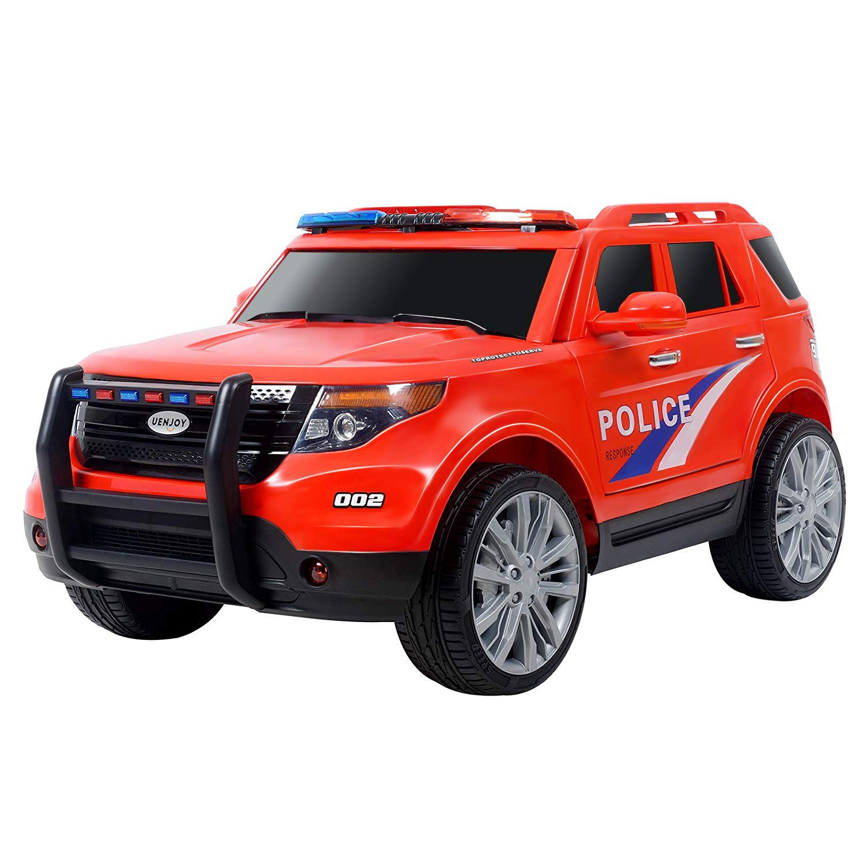 Uenjoy 12V Kids Police Ride on Car Electric SUV Car