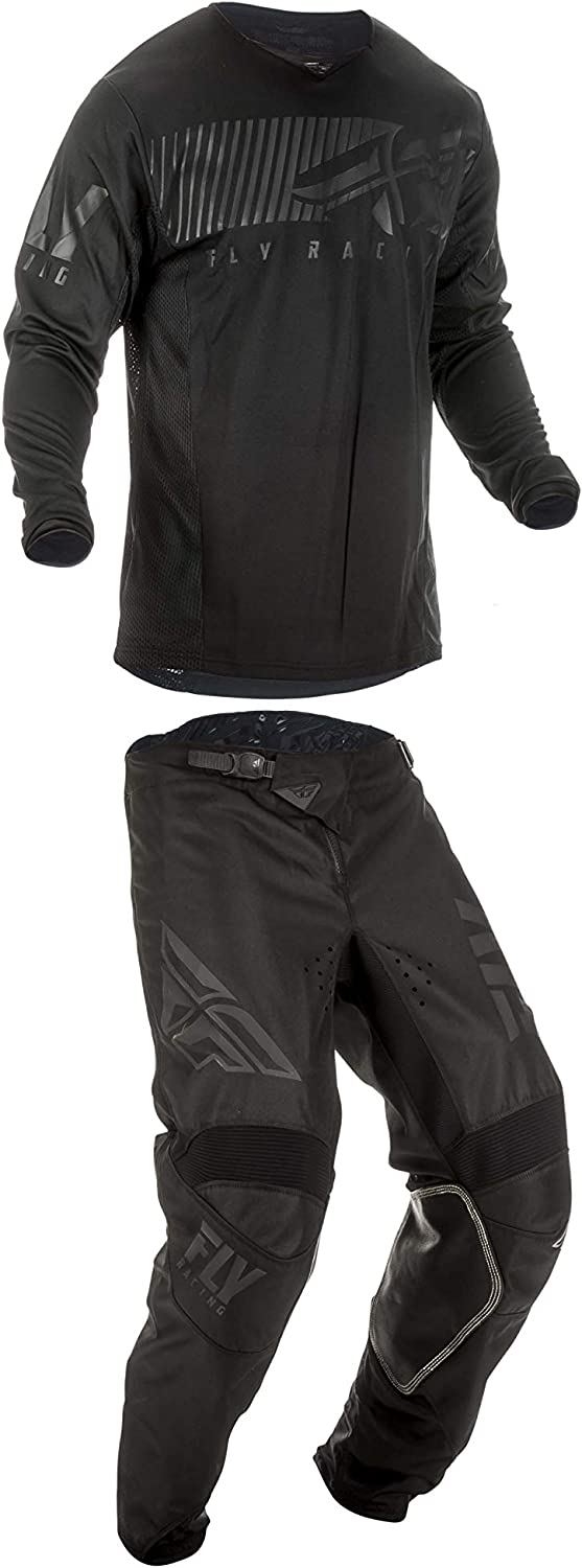 36W Pants//XL Jersey Fly Racing Mens Kinetic Shield Motocross Pants//Jersey Set Black