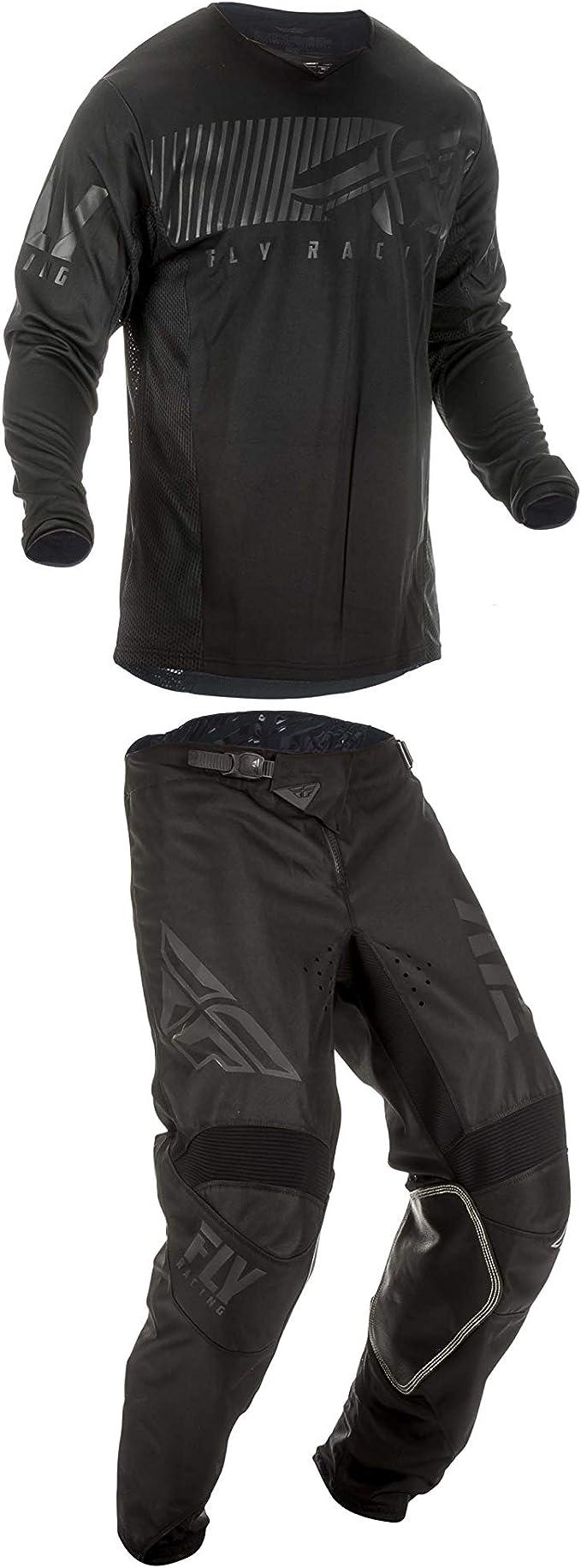 30W Pants//Medium Jersey Fly Racing Mens Kinetic Shield Motocross Pants//Jersey Set Black