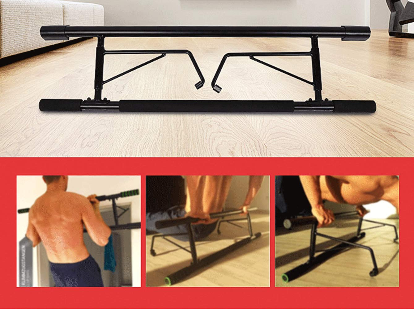 IRONWALLS Pull Up Bar Doorway Chin Up Strength Training Bars with Smart Hook Technology for Home Gym Exercise