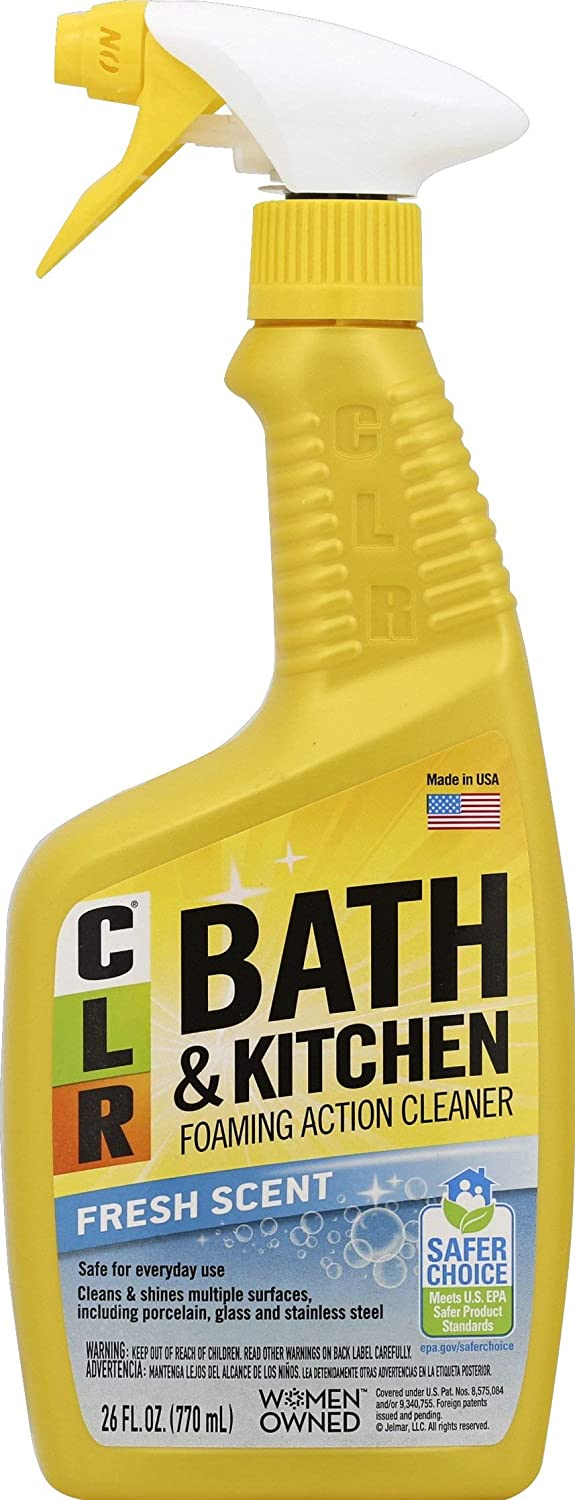 B0002YXHUY CLR Bath and Kitchen Cleaner, Fresh Scent, spray bottle, 26 Ounce 71w3PAC1qrL