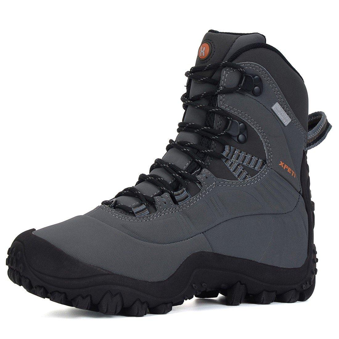 XPETI Women's Waterproof Mid High-Top Hiking Outdoor Boot B07F8KGZG3 9.5 B(M) US|Light Grey