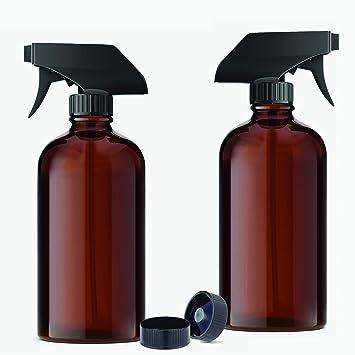 Amazon.com: Botella de spray de vidrio ámbar para aceite ...