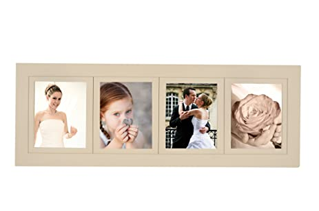 Amazon.com - 4-opening Multi-picture Collage Frame, Ivory with Four ...