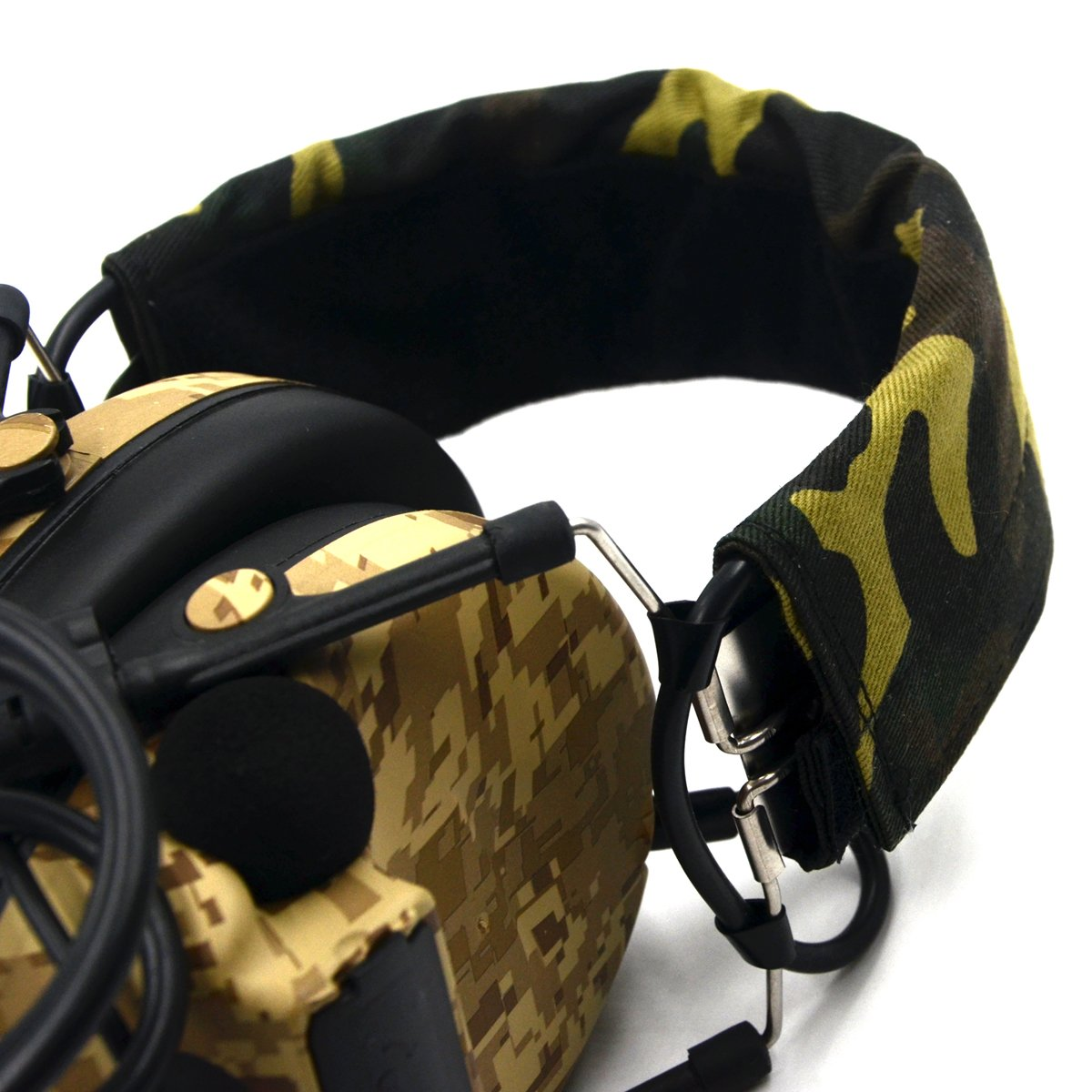 Electronic Earmuff Sport Hearing Protector for Hunting & Shooting, Sand Color by Dolphin (Image #4)