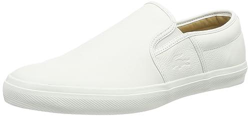 Lacoste Gazon 8 - Zapatillas de casa de Cuero Hombre, Color Blanco, Talla 41: Amazon.es: Zapatos y complementos