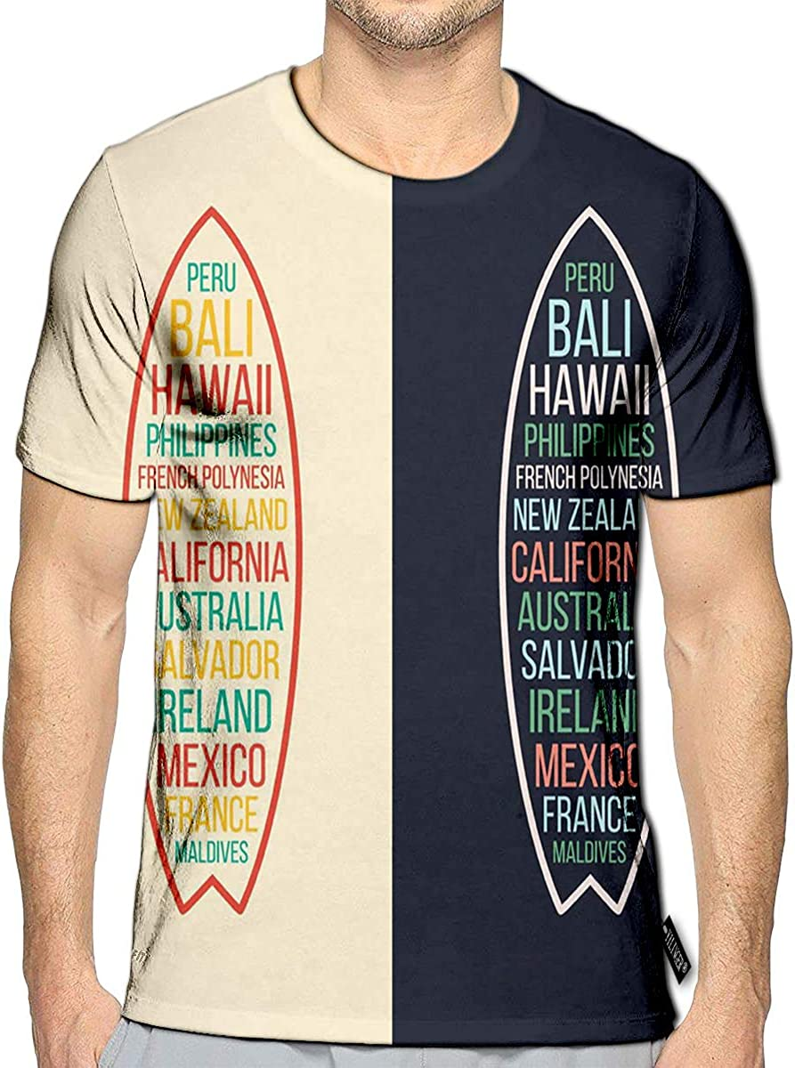 3D Printed T-Shirts Mid Century Modern Short Sleeve Tops Tees