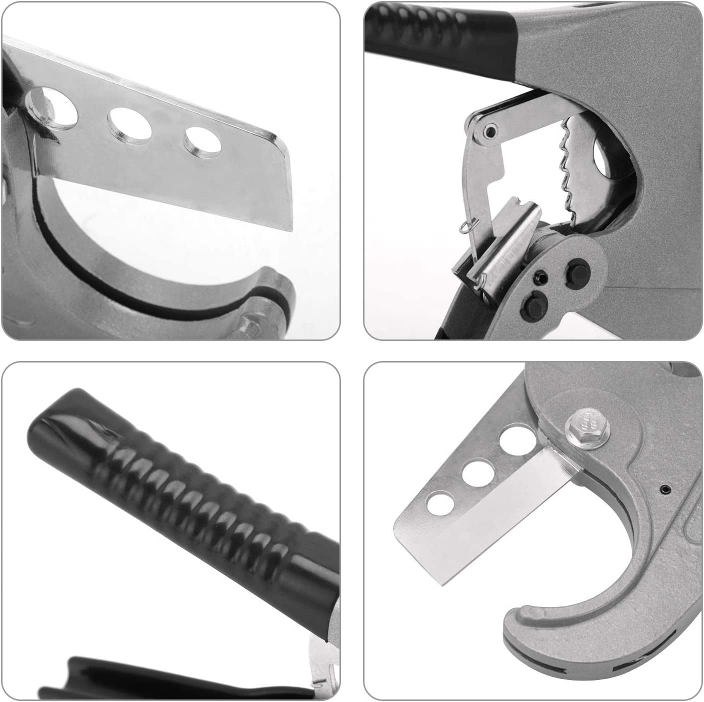 M MOKENEYE PVC Cutter Ratcheting Pipe Cutters Cuts up to 2-1//2 Pipe Capacity Cutting Tool One-hand Fast Pipe Cutting Tool for Home Working and Plumbers