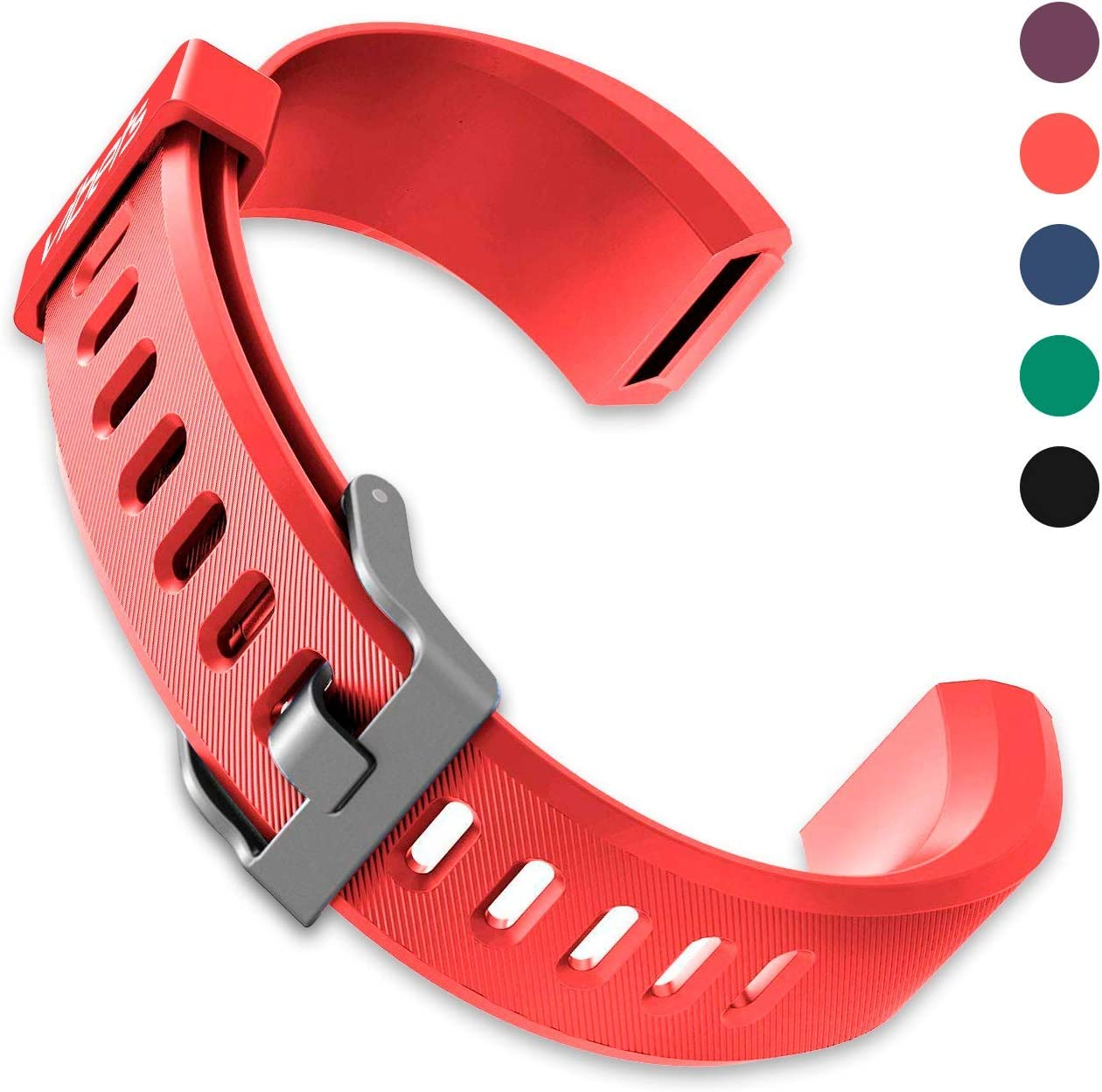 Vibets Pulse Original Replacement Band for Fitness Tracker ID115PlusHR (Cool Red)