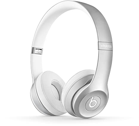 Beats Solo 2 Wireless - Auriculares de diadema abiertos, color plata