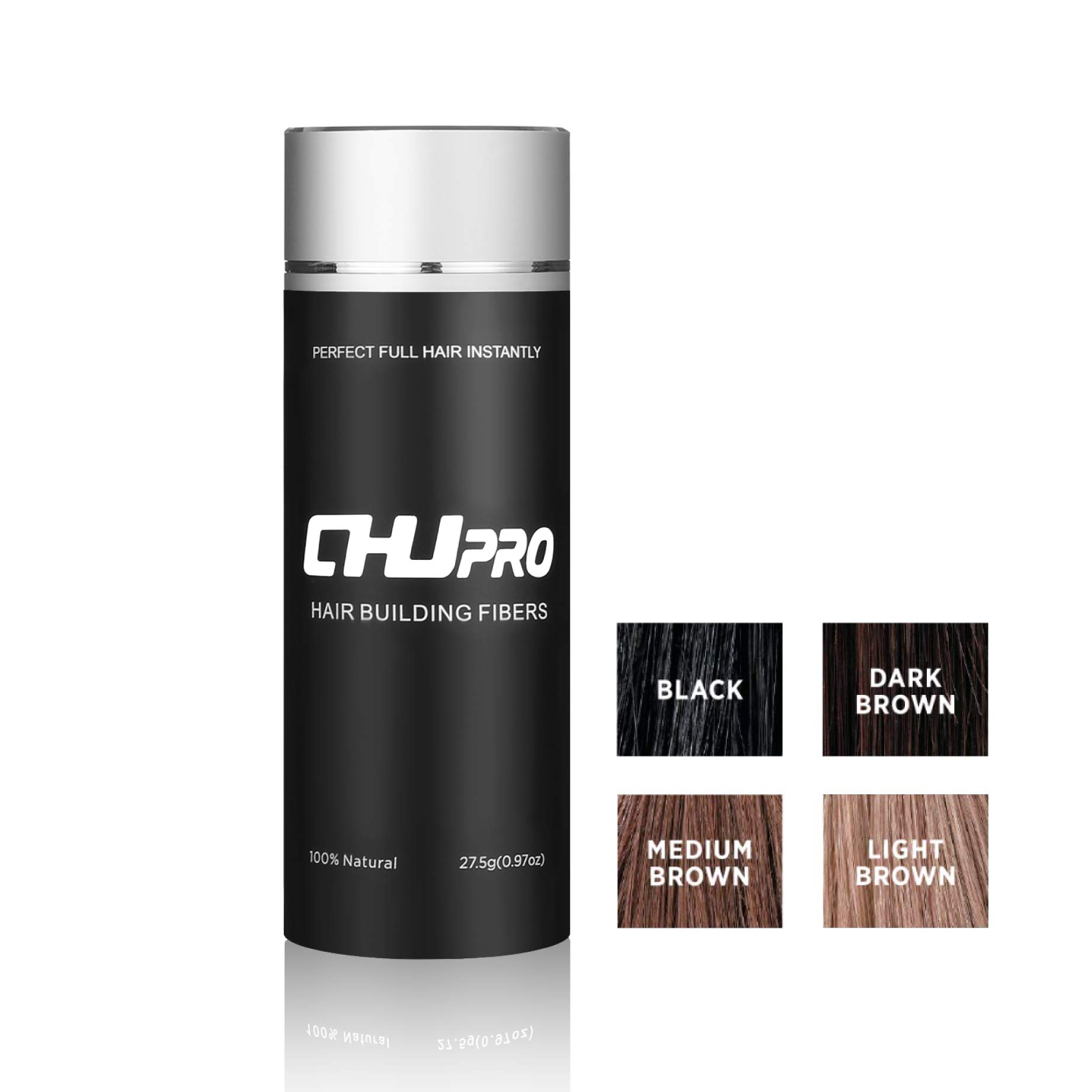 CHJPRO Landscaping Hairline Expert Hair Building Fibers-Color Powder Conceal Women& Men's Hair Thinning/Partial Hair Loss,Light Brown/Medium Brown/Dark Brow (Dark Brown)
