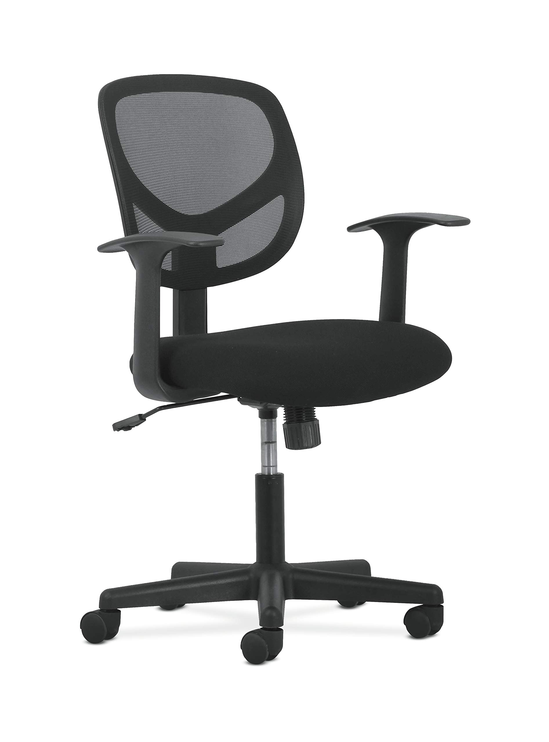 Sadie Swivel Mid Back Mesh Task Chair with Arms - Ergonomic Computer/Office Chair (HVST102) by HON