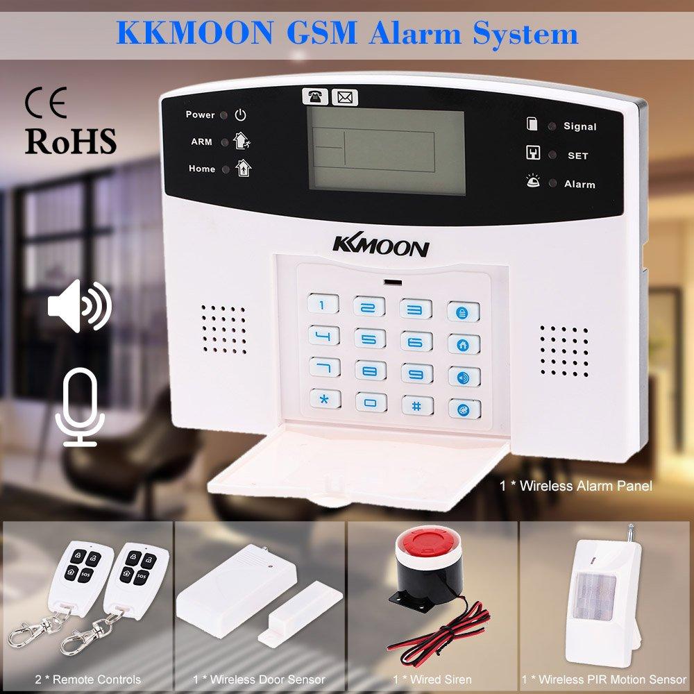 KKmoon Alarma Inalámbrica GSM SMS Antirrobo Sistema de Seguridad Llamada de Móvil 433MHZ con Sensor Detector de Movimiento PIR Sirena: Amazon.es: Bricolaje ...