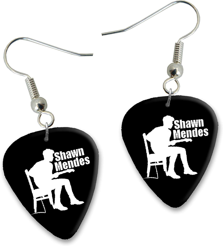 Shawn Mendes Diseño 3 Guitarra Plectrum Pendientes Earrings bweg ...