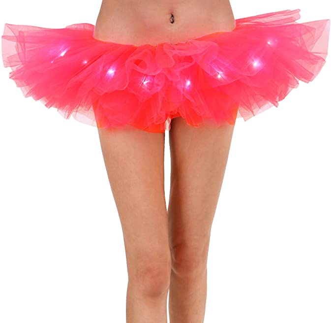 Intimates & Sleep Collection Here Ladies 4 Layer Black White Red Neon Petticoat Festival Tutu Skirt Fancy Dress Clothing, Shoes & Accessories