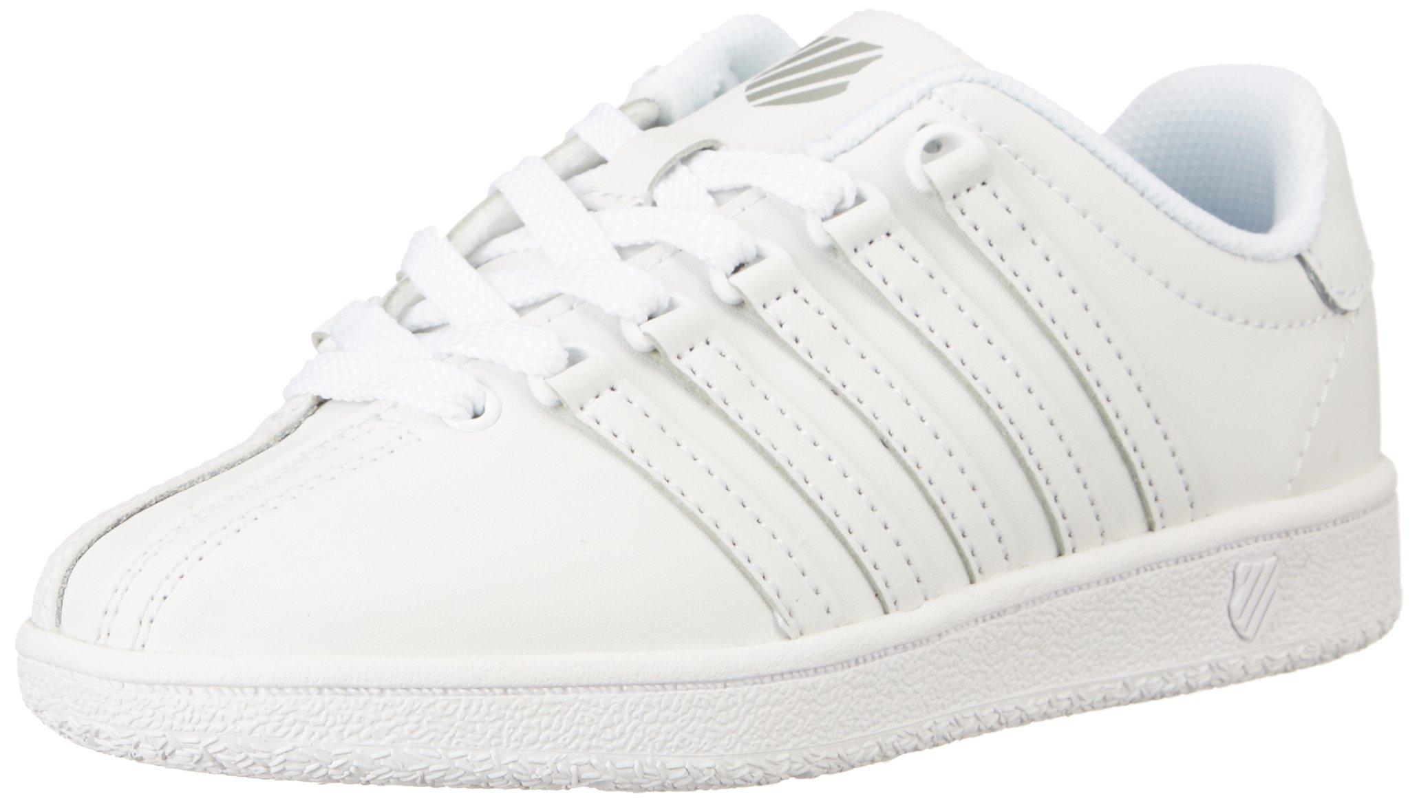 K-Swiss Classic VN Sneaker, White/White, 8 W US Toddler