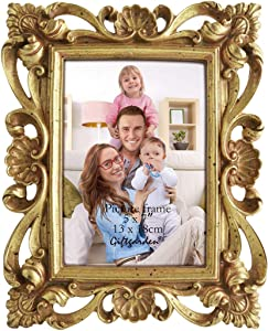 Giftgarden 5 x 7 Inch Vintage Picture Frame Gold for Photo 5x7