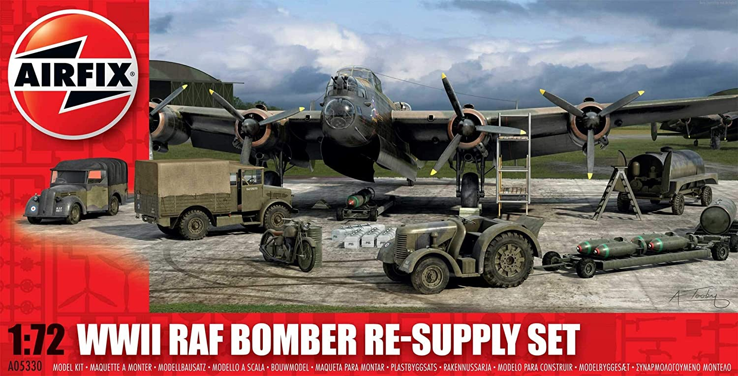 1:72 Scale Hornby Airfix A05330 WWII RAF Bomber Re-Supply Set