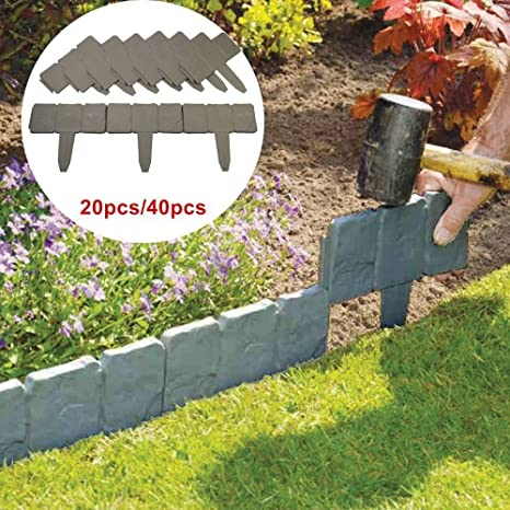 amazon com kingso garden border edging stones set of 20 stones