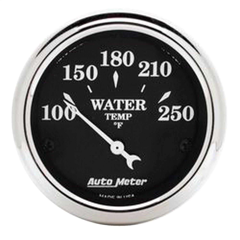 Auto Meter 1737 Old Tyme Black Water Temperature Gauge by Auto Meter