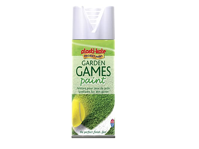 Plasti-kote 4376 400ml Garden Games Spray Paint - White