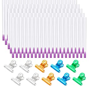 100 Pieces Fiberglass Nail Extension Kit DIY Fiberglass Nail Gel Kit Fiber Silk Nail Shaping Kit and 10 Pieces Nail Pinching Clips for Salon Home Nail Art Accessories