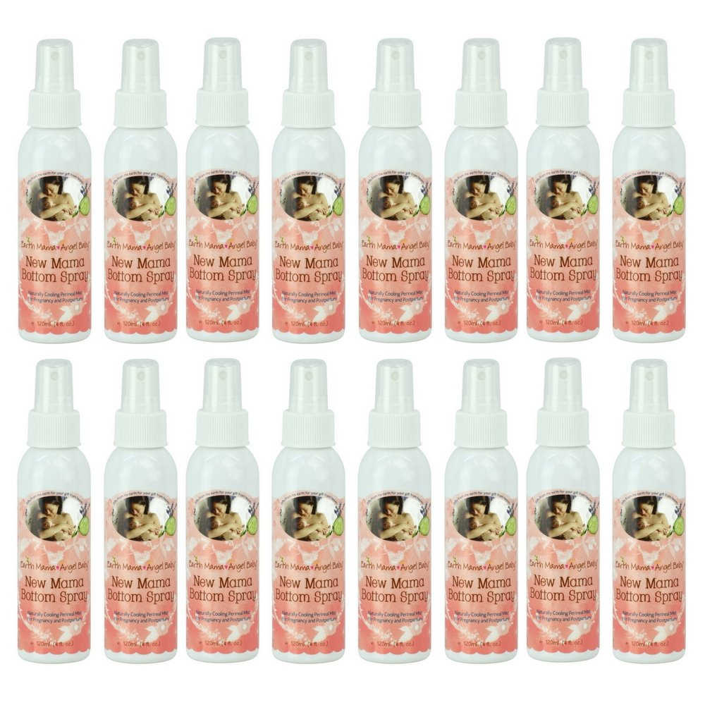 Earth Mama Herbal Perineal Spray for Pregnancy and Postpartum, 4-Fluid Ounce (16 pack) by by Earth Mama Angel Baby