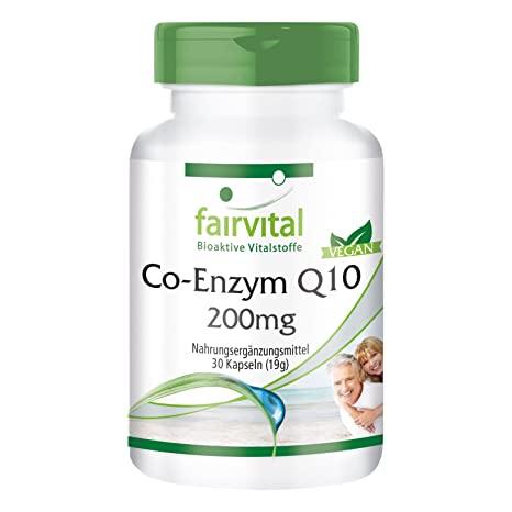 Co-enzima Q10 cápsulas 200mg - VEGANO - Altamente dosificado - 30 ...
