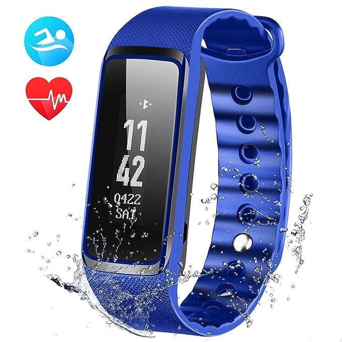 Fitness Tracker, omorc WeLoop pulsera Fitness Bluetooth 4.0 ...