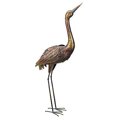 "Regal Art & Gift Patina Up Crane, 40"", Copper : Garden & Outdoor"