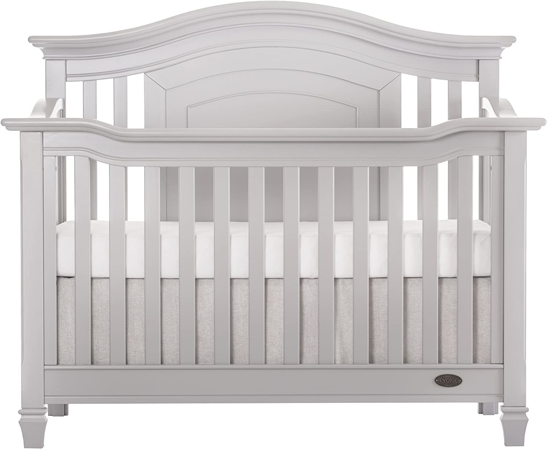 Winter White Evolur Fairbanks 5-in-1 Convertible Crib
