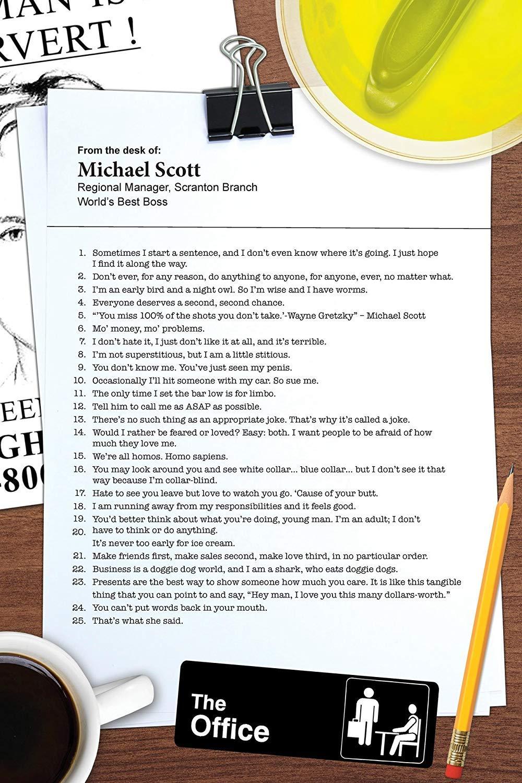 Amazon.com: Michael de oficina Cartel, inspirado en la ...