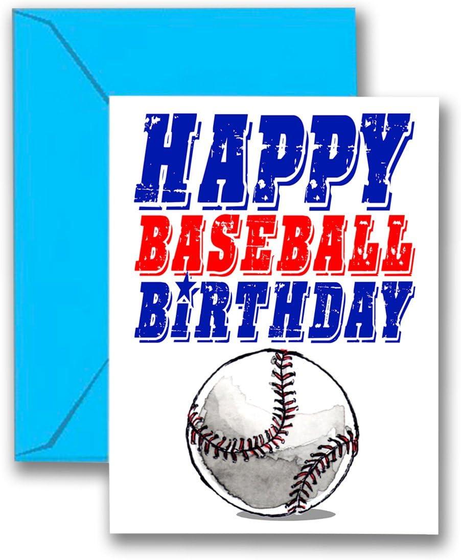 3 unidades de béisbol Star tarjetas de cumpleaños 3-Pack (5 x 7) jugar fuerte deportes tarjetas de felicitación de cumpleaños – impresionante para jugadores, entrenadores y ventiladores cumpleaños, regalos y fiestas. #