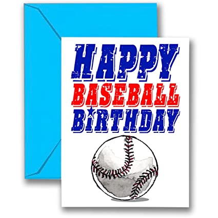 Amazon 3 Pack Baseball Star Birthday Cards 3 Pack 5x7 Play
