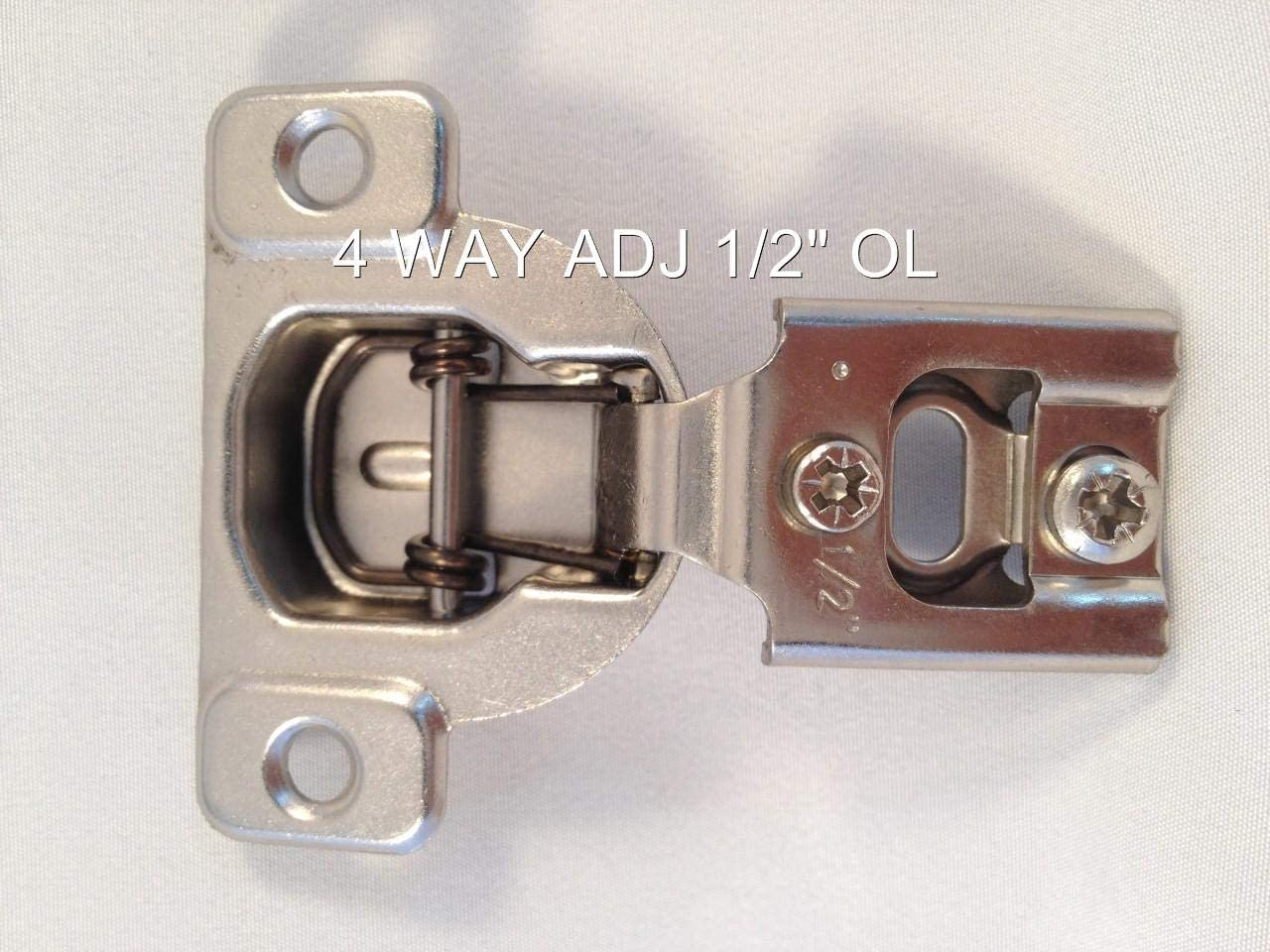 """(25 Pairs) 1/2"""" - 1-7/16"""" Compact FACE Frame Kitchen Cabinet Hinge (4 Ways 2 Cam 1/2"""" OL) 71w3ayFh8AL"""