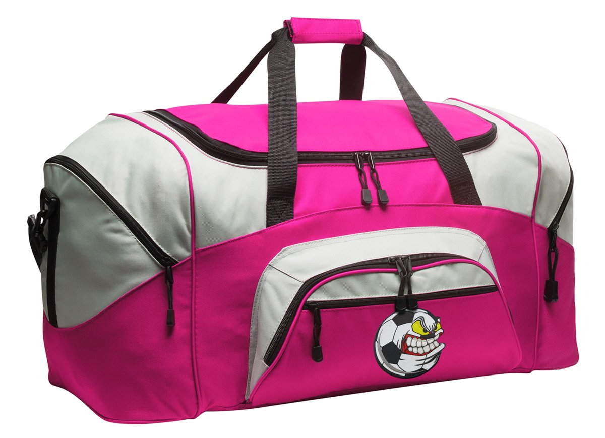 LARGE Soccer Fan Duffel Bag Ladies Soccer Suitcase Duffle Gym Bag GIFT IDEA