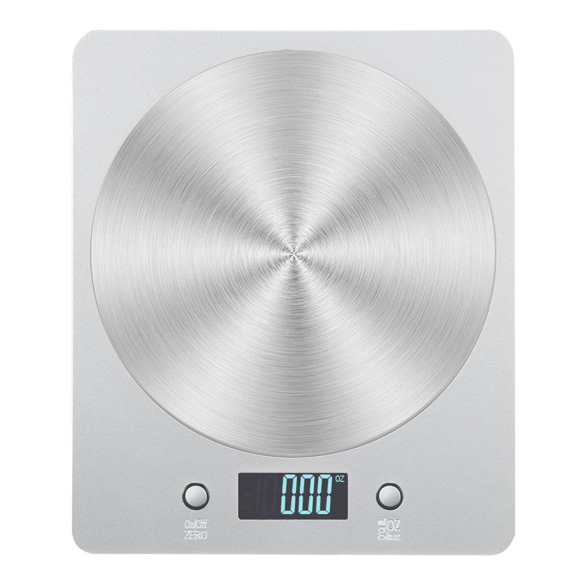 Amir Digitale Küchenwaage, elektronische Waage zum Kochen und wiegen von Lebensmitteln, LCD-Display, genaue Gewichtanzeige, schlankes Design, Batterien enthalten. UK-KA5