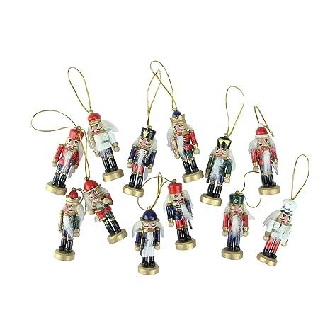 Amazon.com: 12 piezas Juego de rojo y azul Mini decorativo ...