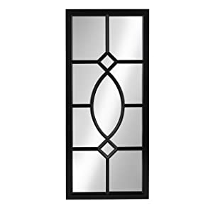 Kate and Laurel Cassat Window Wall Accent Mirror, Black