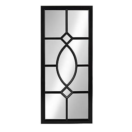 Kate and Laurel Cassat Window Wall Accent Mirror, Black