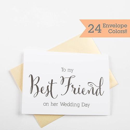 wedding card to the bride best friend bride card congratulations card wedding day