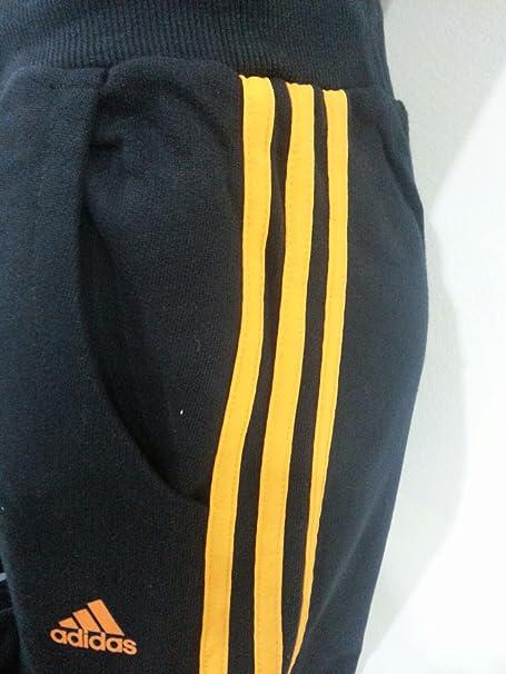 adidas Uomo AN8818 Tuta Pantalone Felpa con Cappuccio E