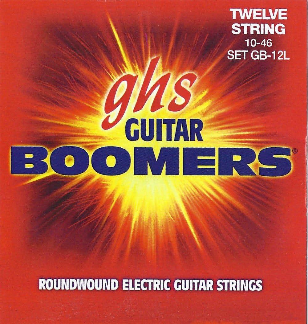 ghs GB12L - Juego de cuerdas para guitarra eléctrica, 12 cuerdas